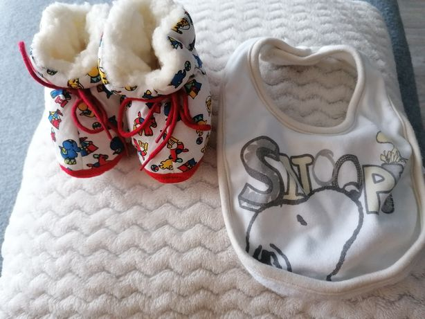 Buciki i śliniak dla noworodka oddam