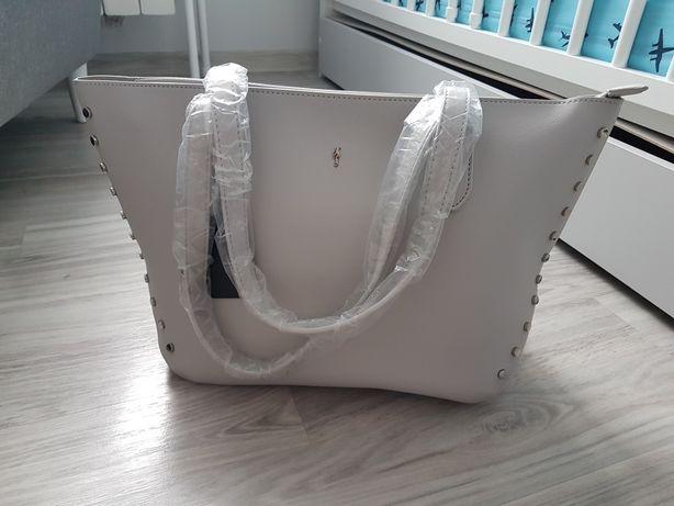 Nowa torebka A4 szara ochnik duża