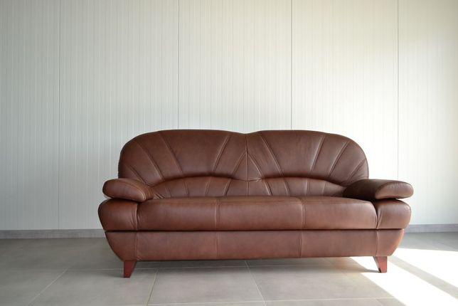 Kanapa sofa wersalka rozkładana tapczan PORTO prawdziwa skóra producen