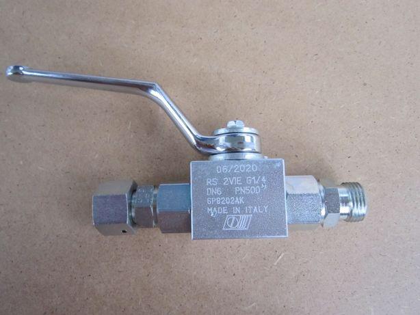 Кран для гидравлики RS 2 VIE G1/4, пр. Италия (гайка 22, резьба 18)
