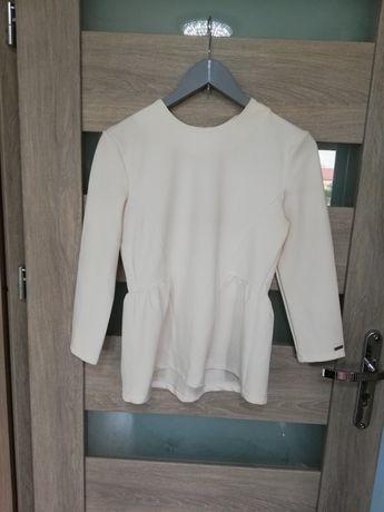 Biała Bluzka z baskinką Mohito rozmiar S