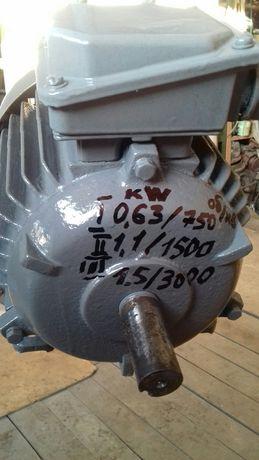 Электродвигатель 3-х скоростной 0,63/750;1,1/1500;1,5/3000