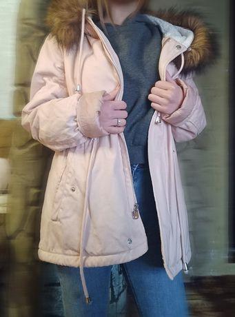 Куртка женская розовая