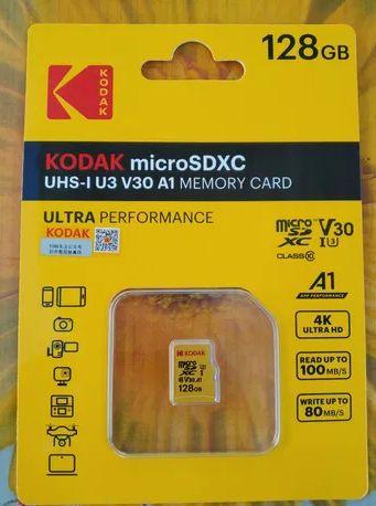 Карта памяти Kodak 64 GB и 128 GB (MicroSDXC UHS-I U3 V30 A1)