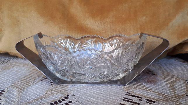 Cukierniczka kryształowa PRL