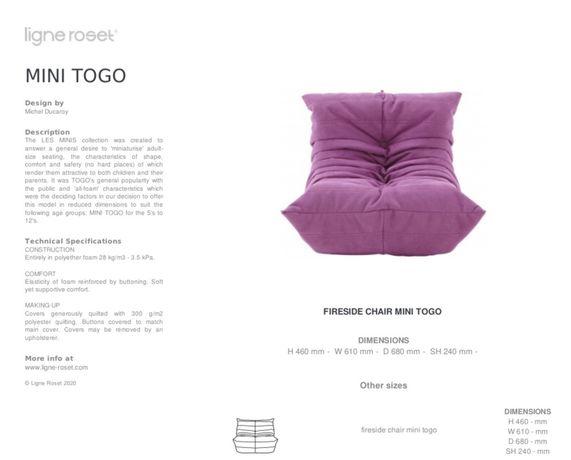 Культовое кресло Ligne Roset Togo mini
