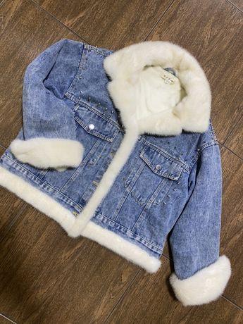 Джинсовка куртка с норкой эксклюзив