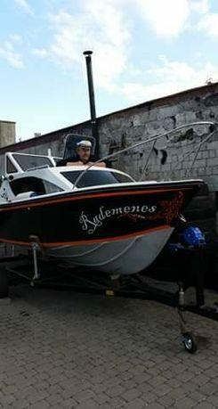 Łódź rybacka kabinowa
