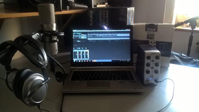 Mobilne Studio-Mikrofon MXL 440,Lexicon,Laptop,Słuchawki,kable,soft.