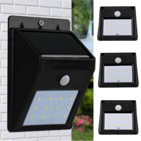 Luz solar candeeiro 16 LEDs com deteção de movimento