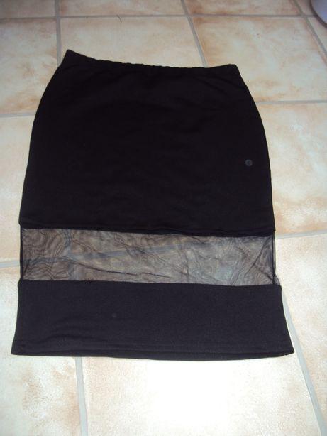 Spódnica dresowa rozciągliwa na gumce l/xl