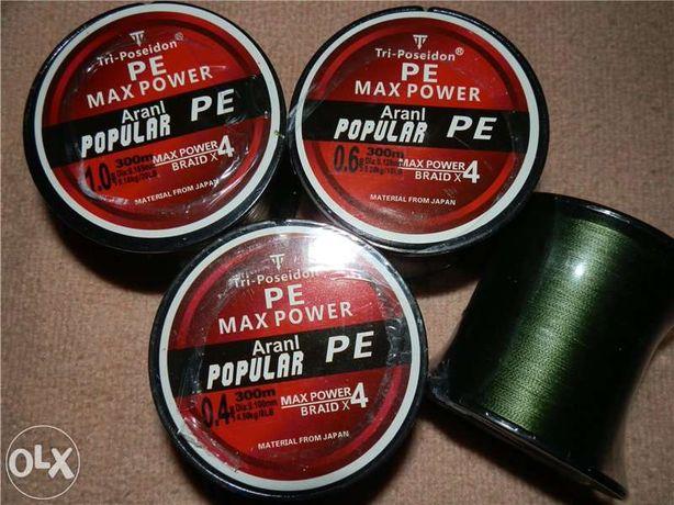 Плетеный шнур для рыбалки Triposeidon MaxPower PE 300м