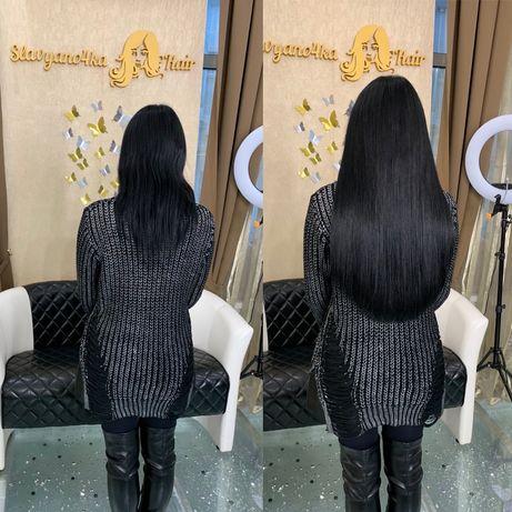 Наращивание волос, славянские волосы