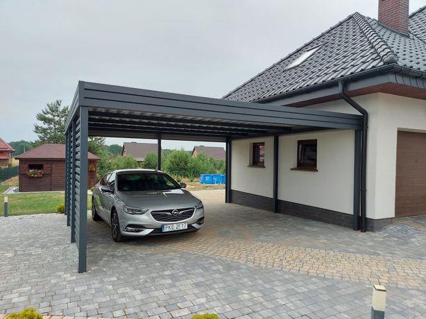 Wiata garażowa na dwa auta, garaż, altana, zadaszenie, Horyzontal