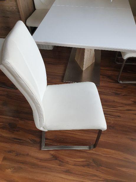 Krzesła 1szt białe ekoskóra