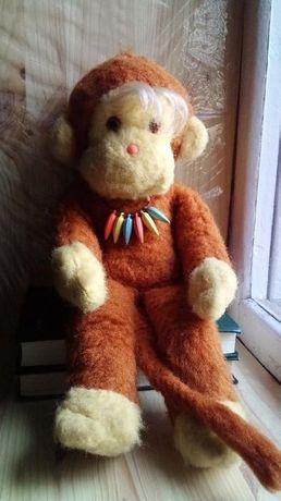 Игрушка мягкая обезьянка, СССР