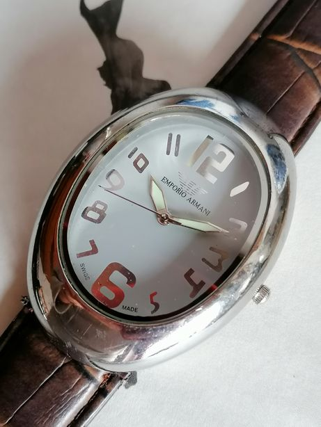 Relógio Original Emporio Armani Milano 2368 09 Homem Swiss Leather TOP