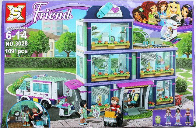 Klocki o jakości lego Friends Szpital z bobasem w Heartlake