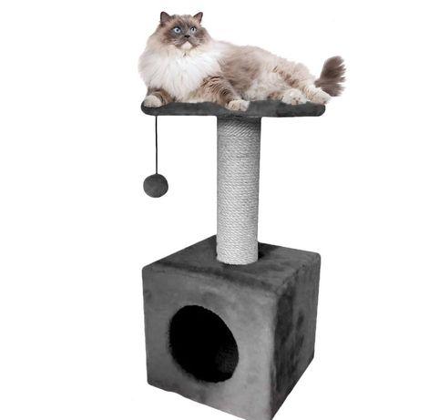 Когтеточка для котов (дряпка) с домиком. Лежанка для котов. LUND-147
