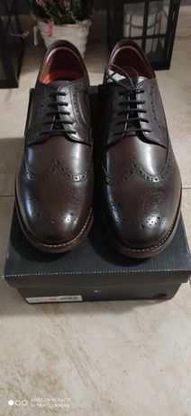 Tommy Hilfiger Washed Leather Brogue Shoe