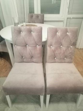 Krzesła pikowane Glamour 4 szt.