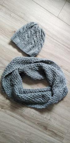 Zestaw, komplet zimowy, czapka + szalik