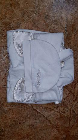 Набор для крещения,крестильный костюм велюровый