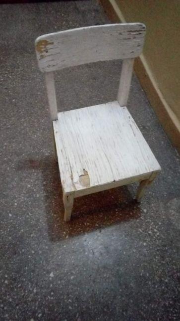 Krzesełko drewniane dziecięce do renowacji