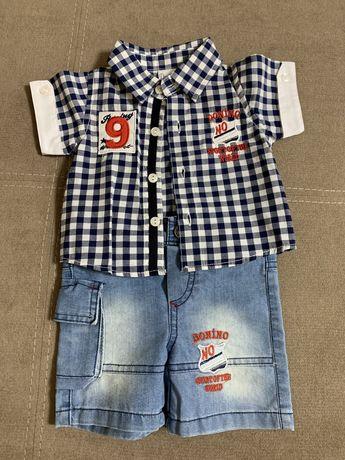 Летний костюм для мальчика в размере 68 (6 месяцев)
