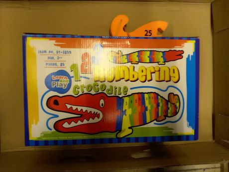 Puzzle numerowane krokodyl, nowe