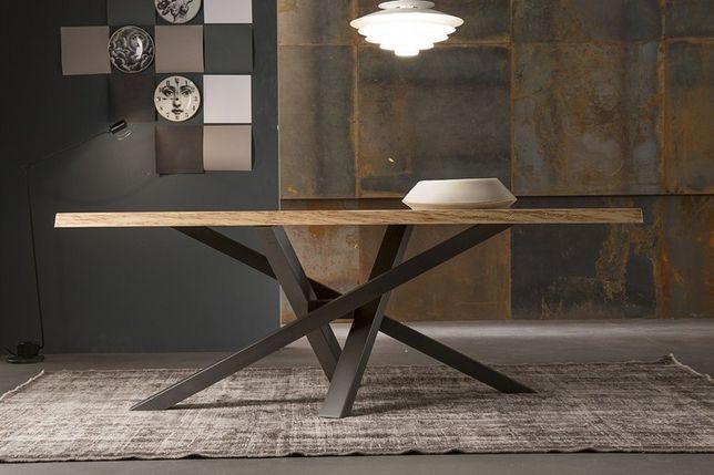 Stół dębowy z litego drewna dębowego