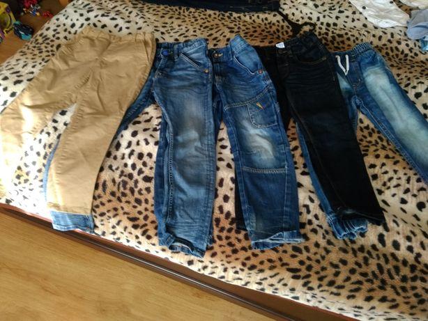 Spodnie dżinsowe zestaw 5 par r. 116 Reserved, HM, CA