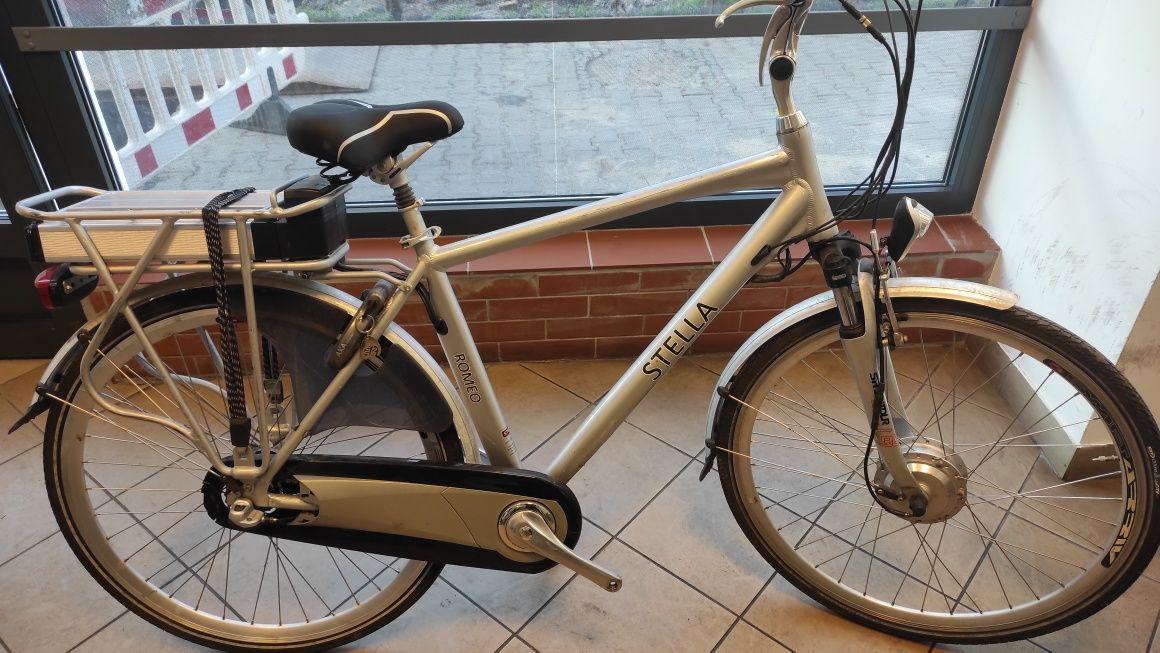 Aluminiowy rower elektryczny STELLA 36V / bateria do naprawy/ C