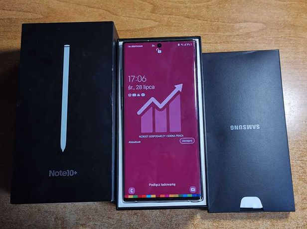 """Samsung Note 10 + PLUS 12/256GB 6.8"""" zakupiony w polskim markecie"""