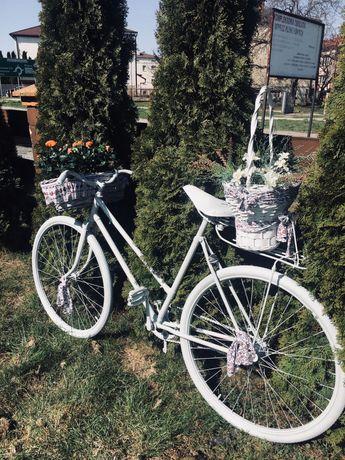 Rower ogrodowy na kwiaty
