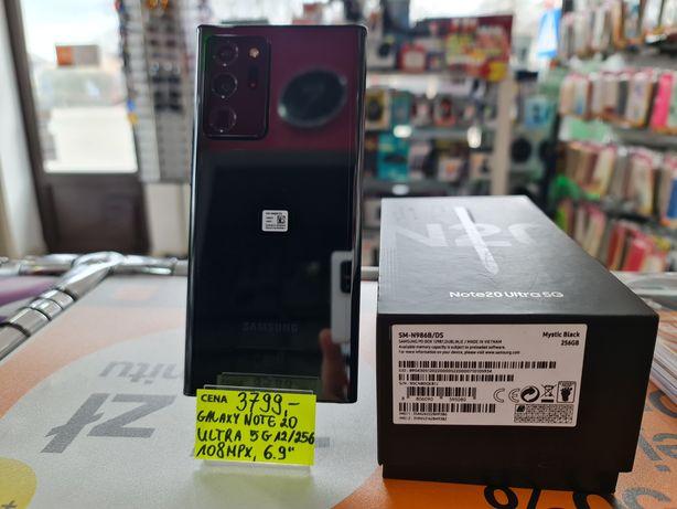 Nowy Samsung galaxy NOTE 20 ULTRA 5G mystic black, 2 lata gwarancji