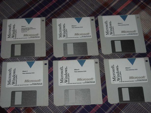 Disquetes muito antigas vintage Windows 3.0 - 1991
