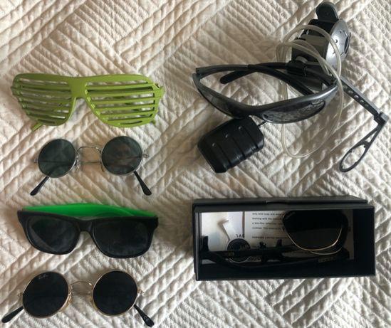 Óculos de sol espelhados cinzentos com Spy Cam / Câmara Espia
