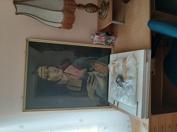 Duży obraz dama z łasiczką