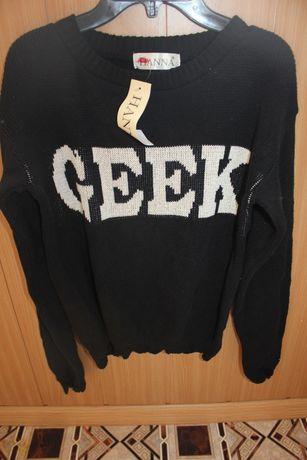 Кофта свитер реглан свитшот черный на С_М 42-44 размер