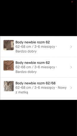 Zestaw body newbie rozm 62