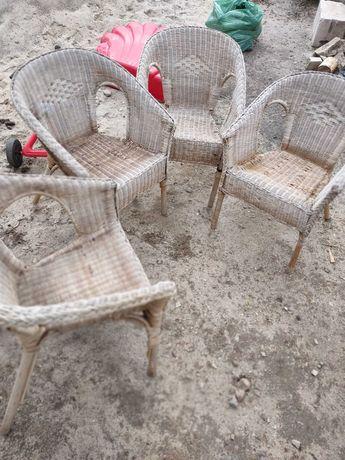 Fotel z rattanu Ikea Agen krzesło taras