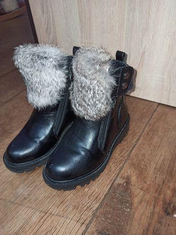 Зимові ботінки для дівчинки розмір 28