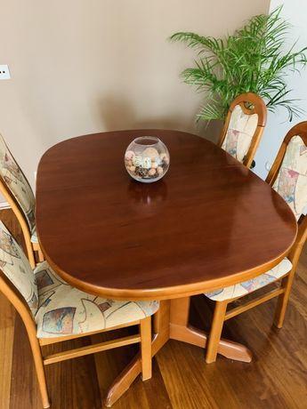 Stół Klose rozkładany czereśnia antyczna stan bdb + obrusy