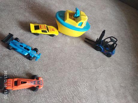 Набор детских игрушек машинки катер