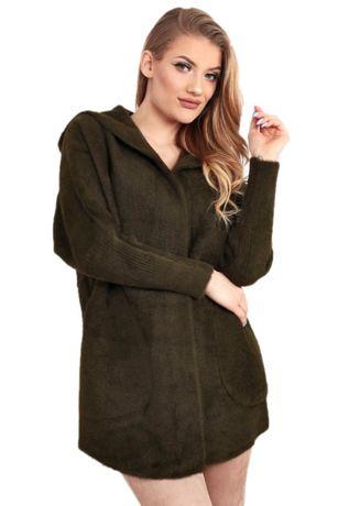 Płaszcz kurtka sweter wełna alpaka jesień khaki uniwersalny 1946