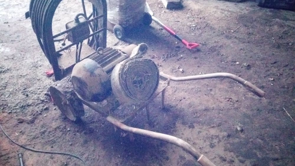 Silnik elektryczny 7kw na wózku Gostyń - image 1