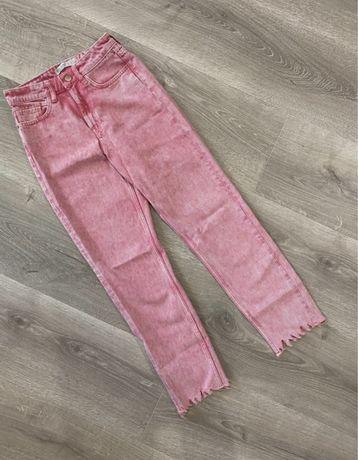 Розовые джинсы zara