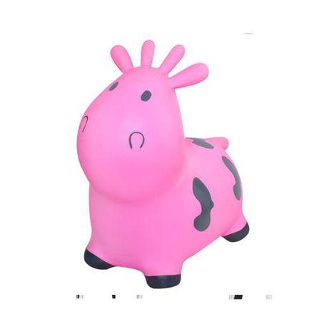 Skoczek - różowo - szara krówka