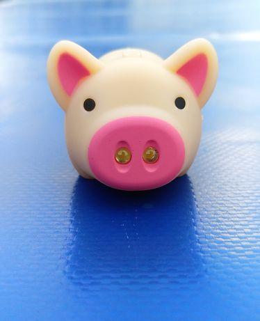 Свинка фонарик сувенир брелок
